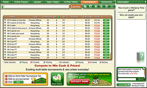 Mahjong Online Tournament